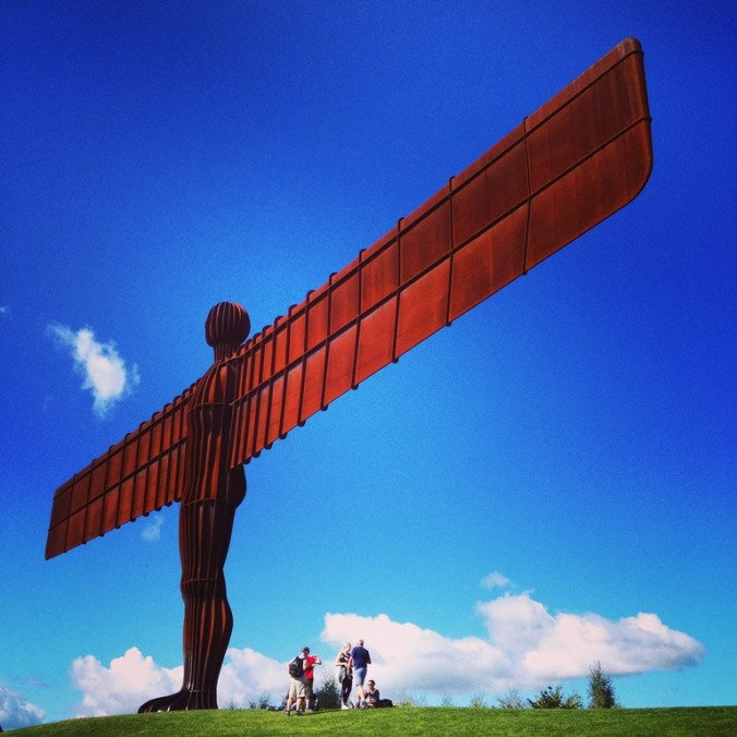 The Angel of the North Instagram arty shot