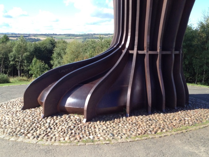 The Angel of the North feet