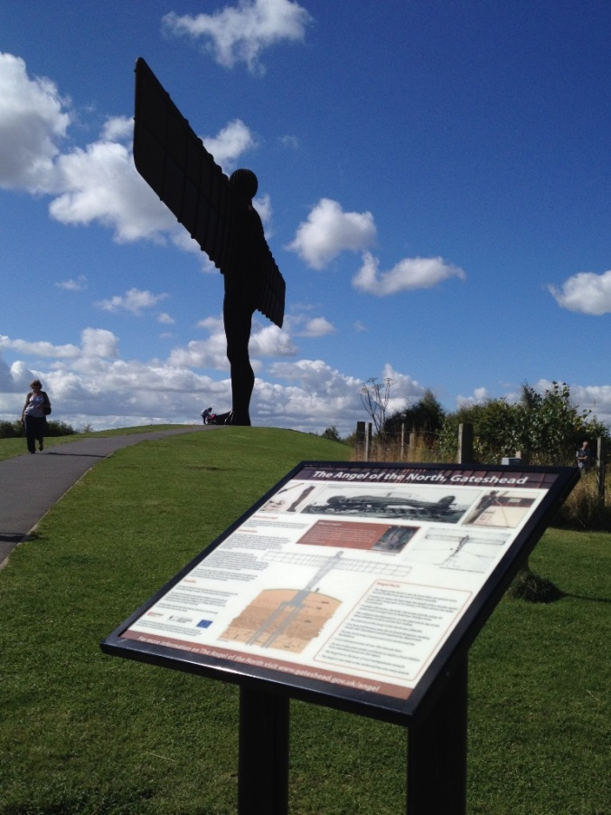 The Angel of the North information board