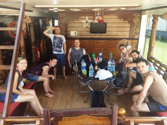 All aboard the houseboat