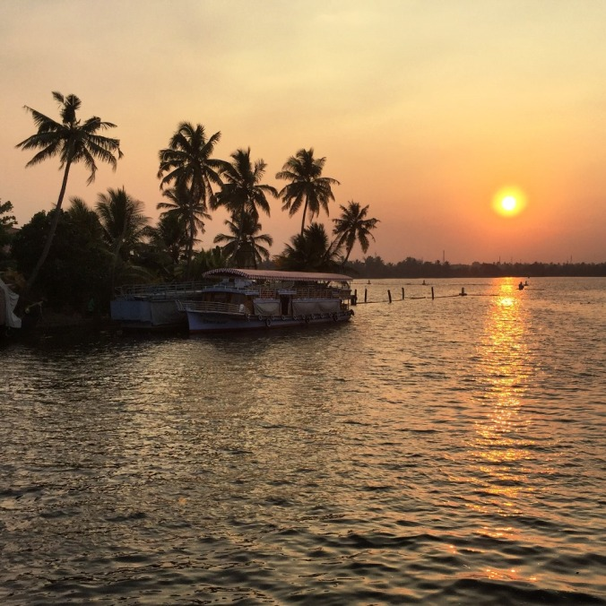 The Backwaters Sunset