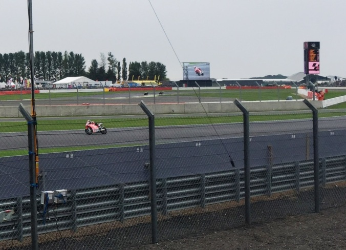Our view from the Woodcote Stand