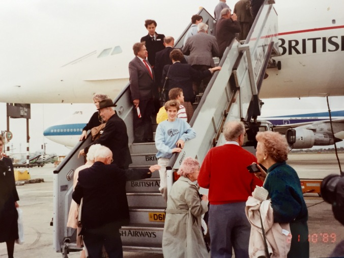 About to board our chartered Concorde back in 1989