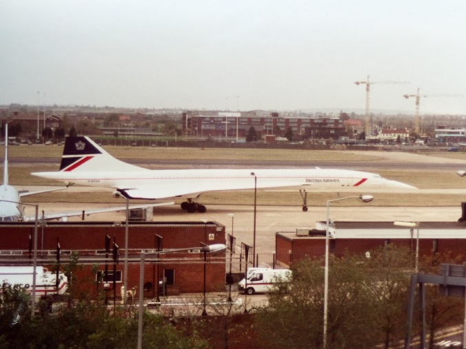 Concorde G-BOAA after we'd safely landed 1h40m later