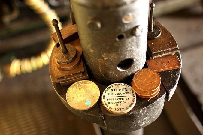 Big Ben's pendulum coins