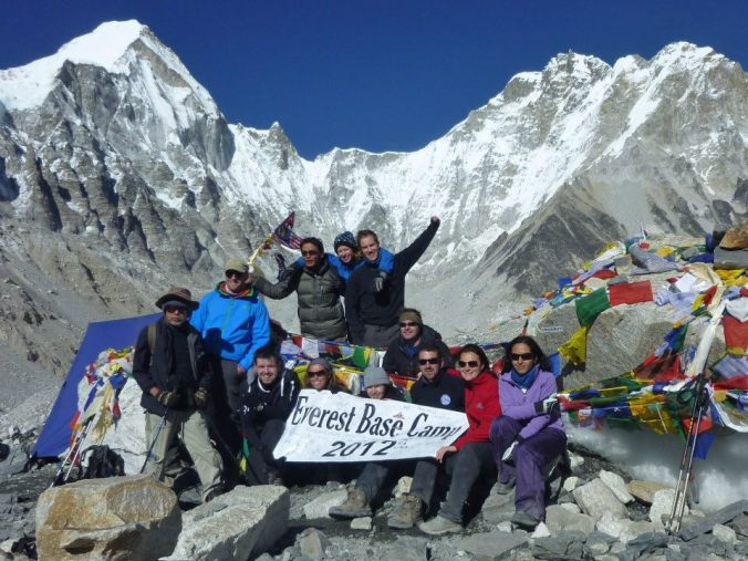 Reaching Everest base Camp with G Adventures - 2012
