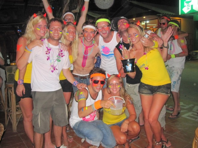 The Full Moon party in Ko Pha Ngan in Thailand - 2010