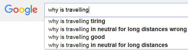 Why is travelling
