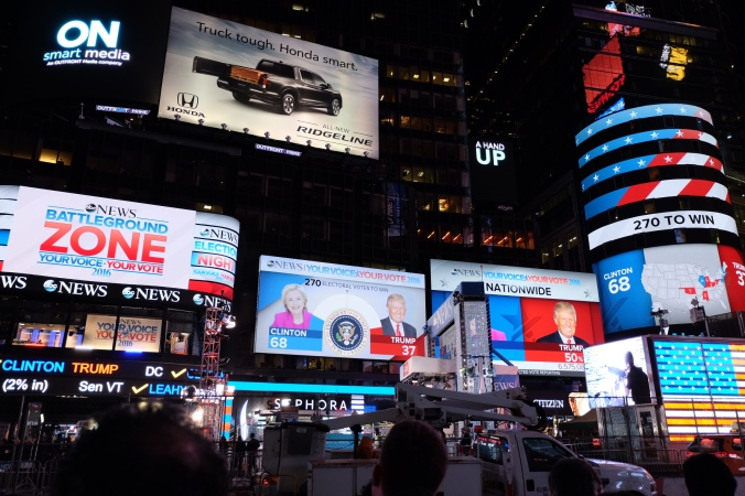 Times Square's big screens