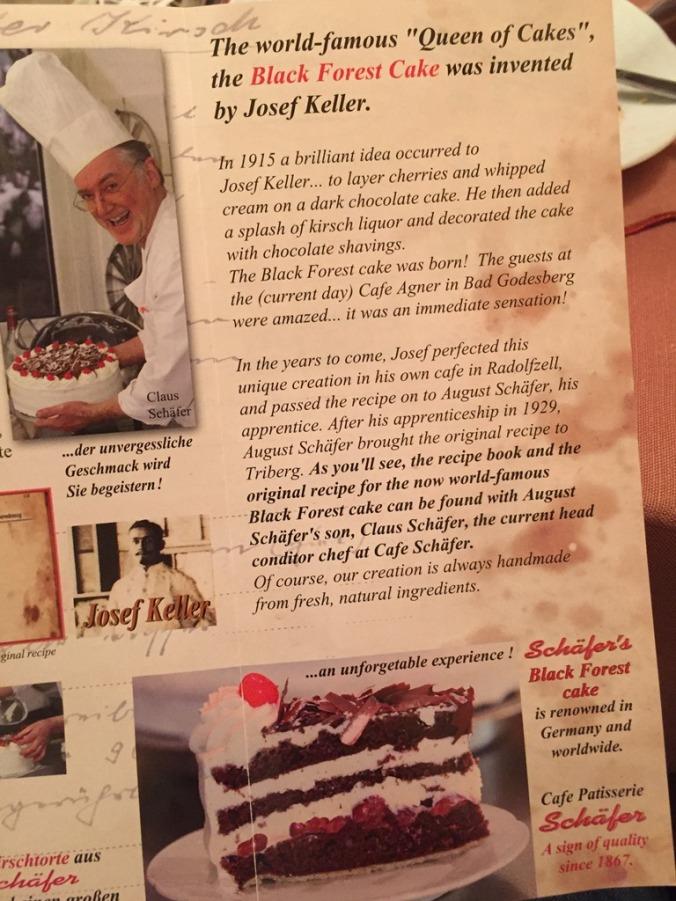 Café Schaefer's leaflet information