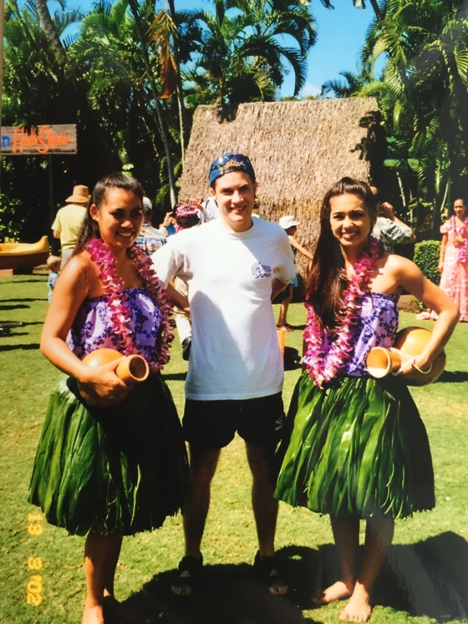 Me with some Hula girls in Hawaii