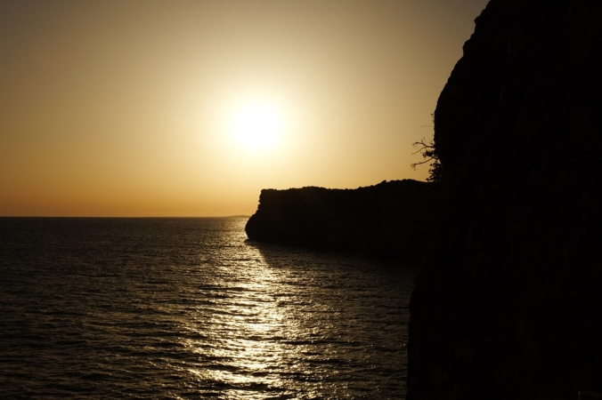 Sunset from the Cova d'en Xoroi cave bar