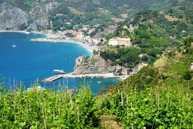 Looking back down to Monterosso al Mare from the Cinque Terre trail
