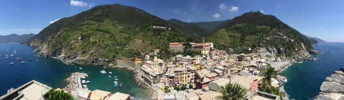 The view of Vernazza from the top of the Castello di Vernazza