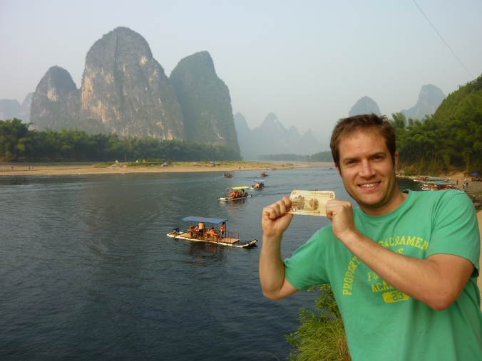 Guilin's Li river in deepest China