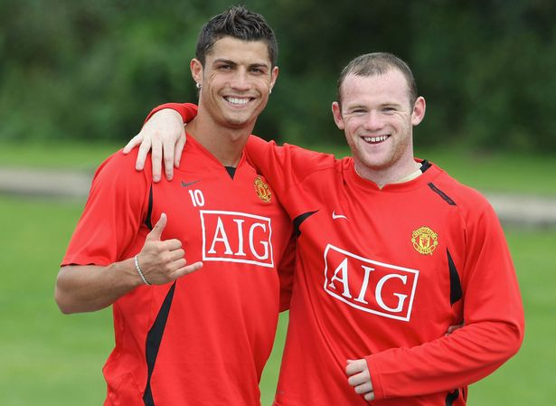 Cristiano Ronaldo and Wayne Rooney - not that I blame them!